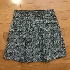LOFT black/white herringbone skirt